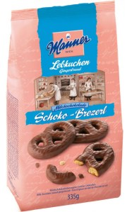 Manner Lebkuchen Schoko-Brezerl