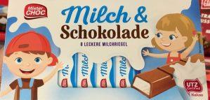 Lidl MisterChock Milch+Schokolade Schokoriegel