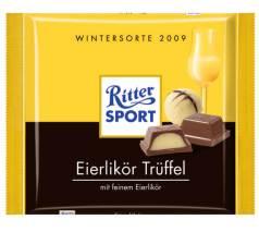 Schokolade und Eierlikör Ritter Sport Wintersorte 2009 Eierlikör-Trüffel