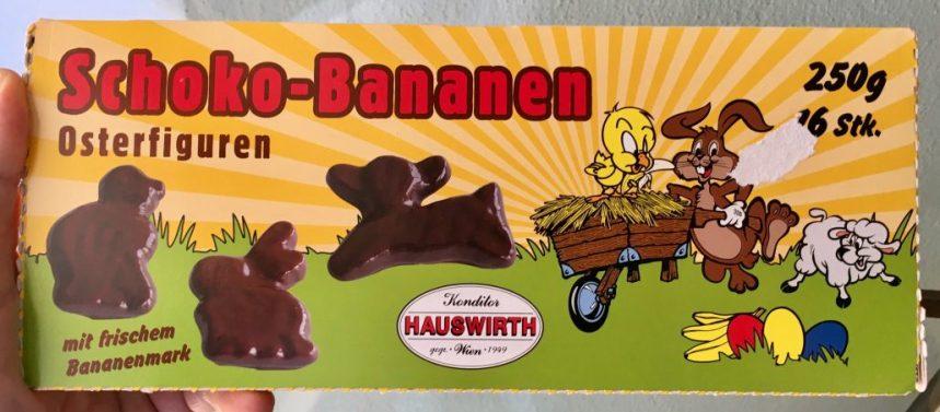 Konditorei Hauswirth Schoko-Bananen Osterfiguren