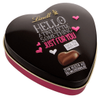 Lindt Hello a tiny little something just for you Schokoladenherzen Schmuckdose Herz