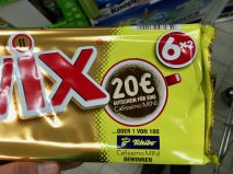 Mars Twix Marketring-Aktion 20€-Gutschein Tchibo Cafissimo