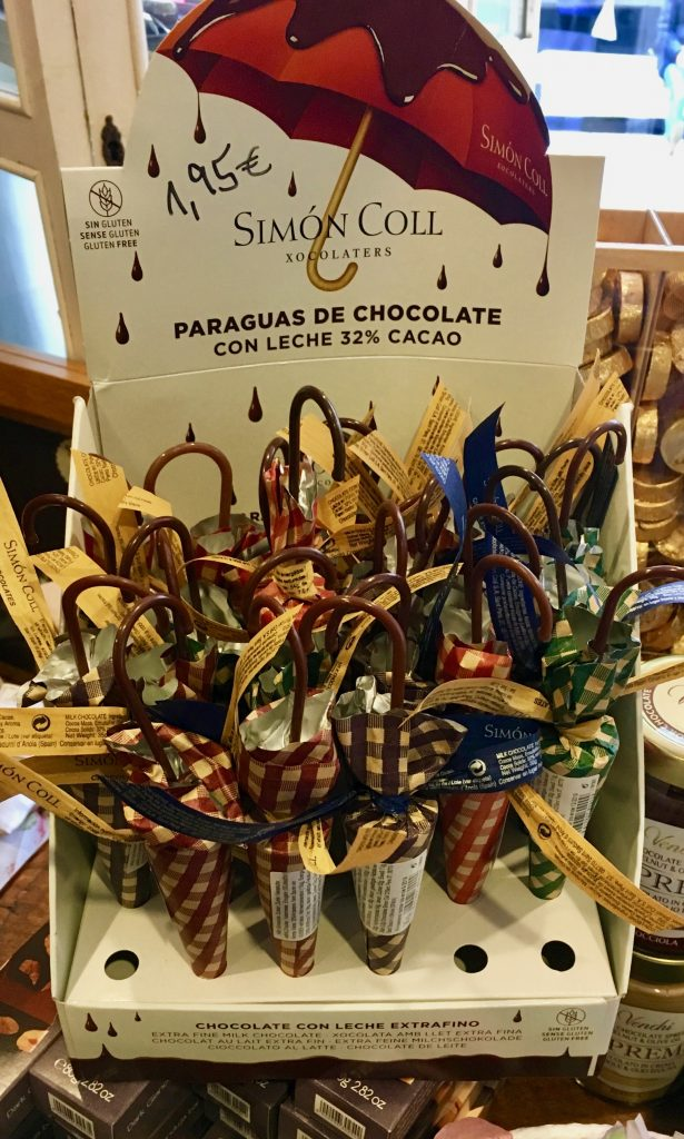 Simon Koll Schokoschirmchen paraguas de Chocolate 32%