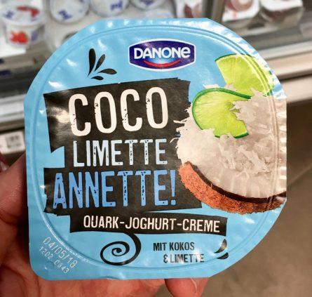 Danone Coco Limette Annette Quark-Joghurt-Creme