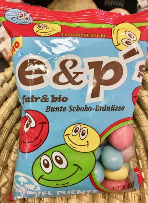 El Puente e+;p Fair+bio Bunte Schoko-Erdnuss Fairtrade
