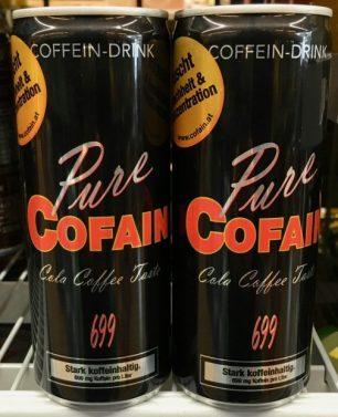 Energydrink Pure Cofain Cola Coffee Taste 699 Dose