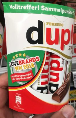 Ferrero duplo Love Brands WM 2018 Sammelaktion