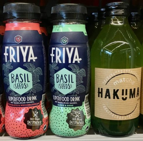 Friya Basil Seeds Superfood Dring Hakuma Matcha Drink