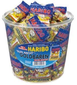 Haribo Goldbären Gute Nacht Minibeutel im Eimer