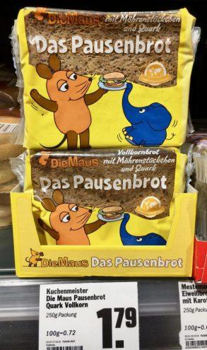 Kuchenmeister Pausenbrot Die Maus