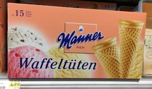 Manner Waffeltüten