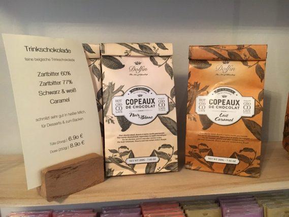 Copeaux de Chocolat Trinkschokolade Blanc und Caramel