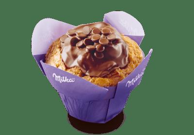 Mondelez Milka Muffin Original gebrandet Backwaren