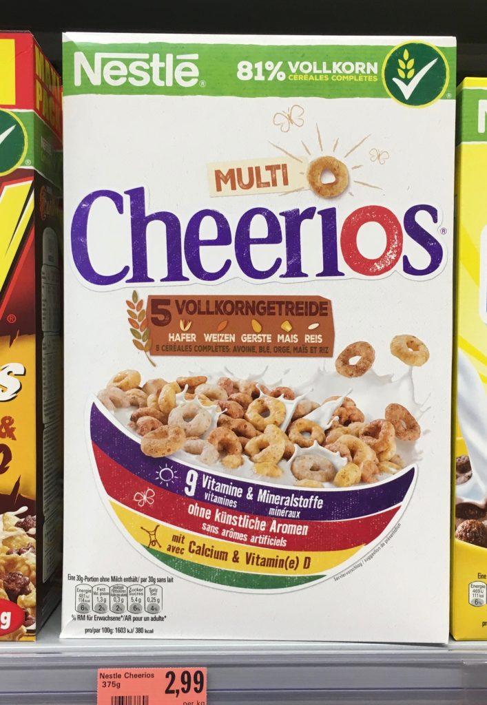 Die Multi Cheerios gibt es natürlich auch klassisch als Cerealien.