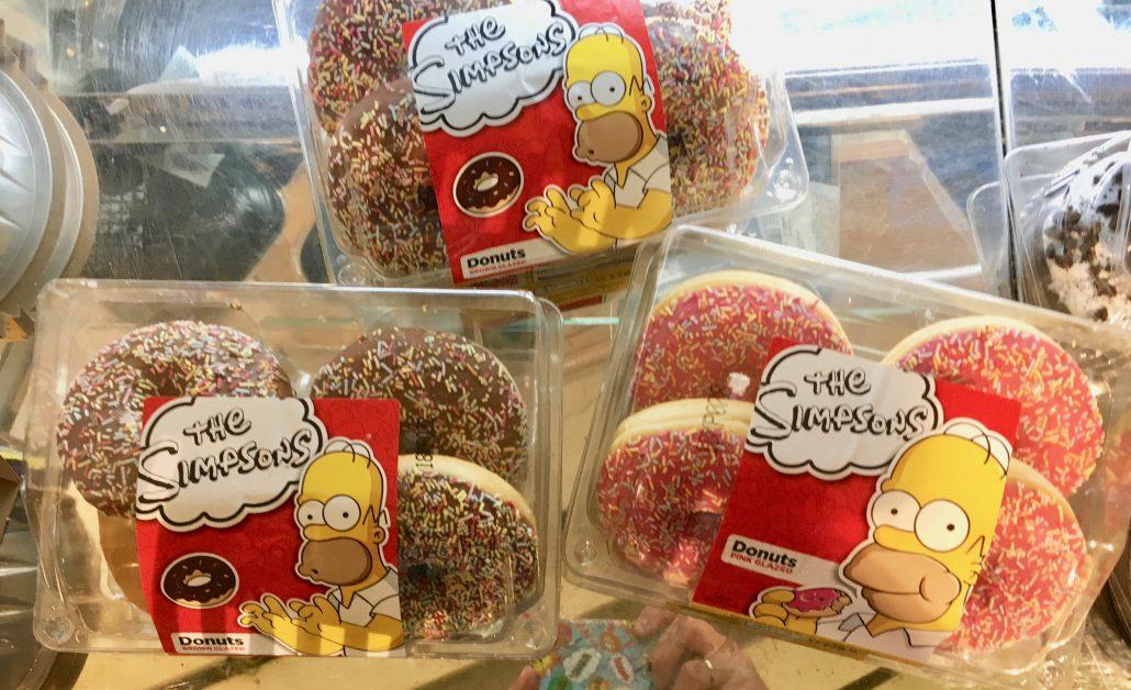 Diese Donuts haben die Fox-Lizenz für die Verwendung von Simpons-Motiven.