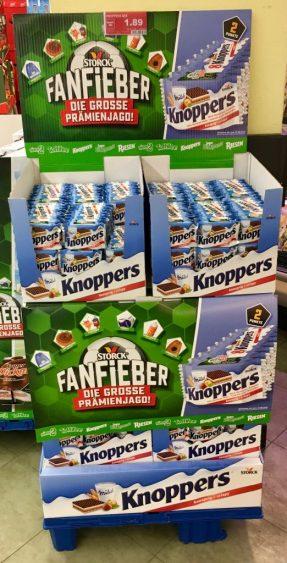 Storck Knoppers Fanfieber Aufsteller Display