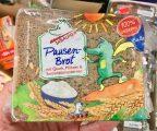 Tabaluga Pausenbrot mit Quark Möhren Sonnenblumenkernen Vollkornbrot Lizenz