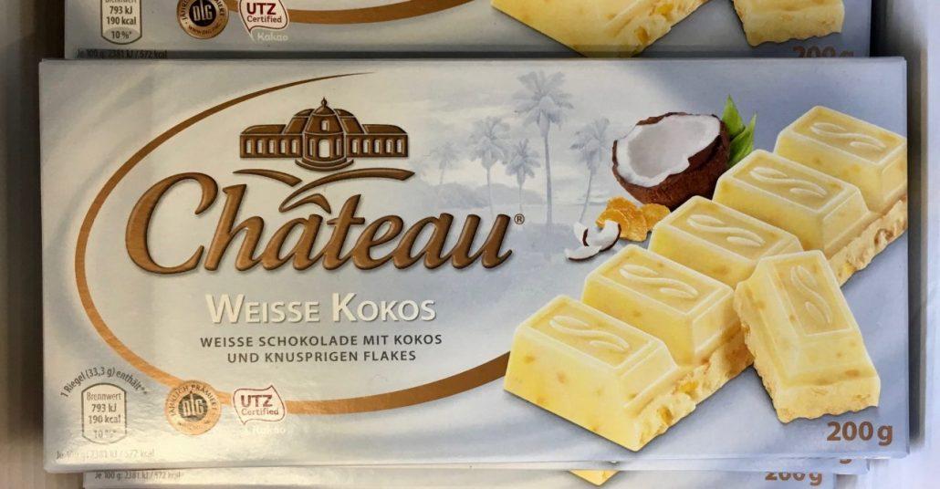 Aldi Chateau Schokolade Weiße Kokos