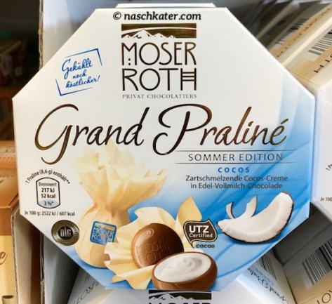 Aldi Moser Roth Grand Praliné Sommeredition Cocos