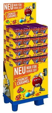 Mars M+M Crunchy Caramel Display