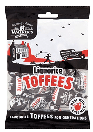 Walker's Nonsuch  Liquorice Toffees