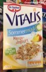 Dr. Oetker Vitalis Sommermüsli mit Mango-Joghurt