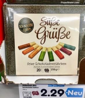 Schokoliebe Edition Süße Grüße Feine Schokoladenstäbchen