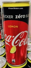 Coca Cola Zero mit Zitrone Dose