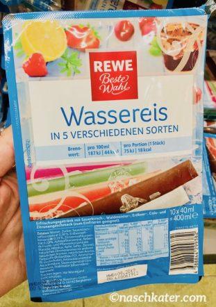 REWE Beste Wahl Wassereis 5 Sorten Sauerkirsch-Waldmeister-Erdbeere-Cola-Zitrone