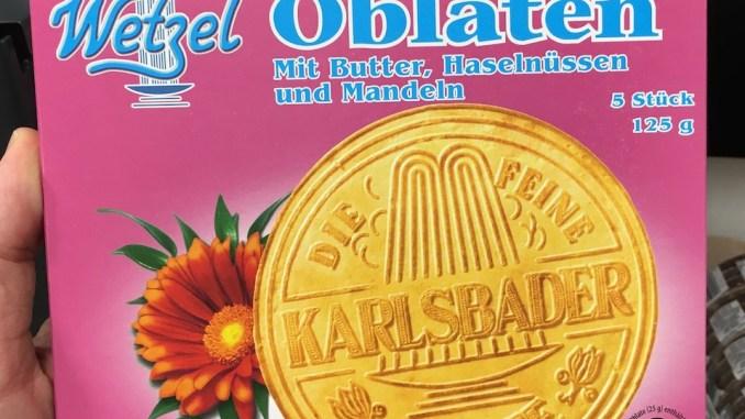 Wetzel Karlsbader Oblaten mit Butter-Haselnüssen und Mandeln 125g