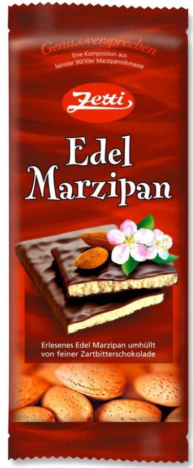 Tafelschokolade von Zetti: Edel Marzipan.