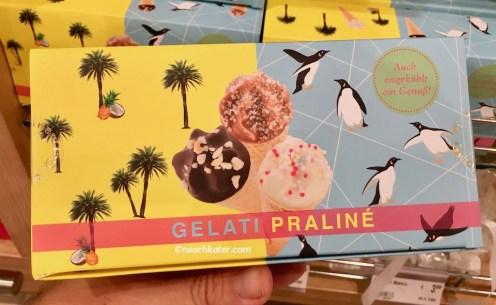 Gelati Praliné Eiskonfekt-Schokoladen in Waffeltüten