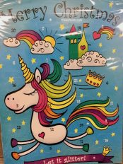 Merry Christmas Adventskalender Let it Glitter Einhorn