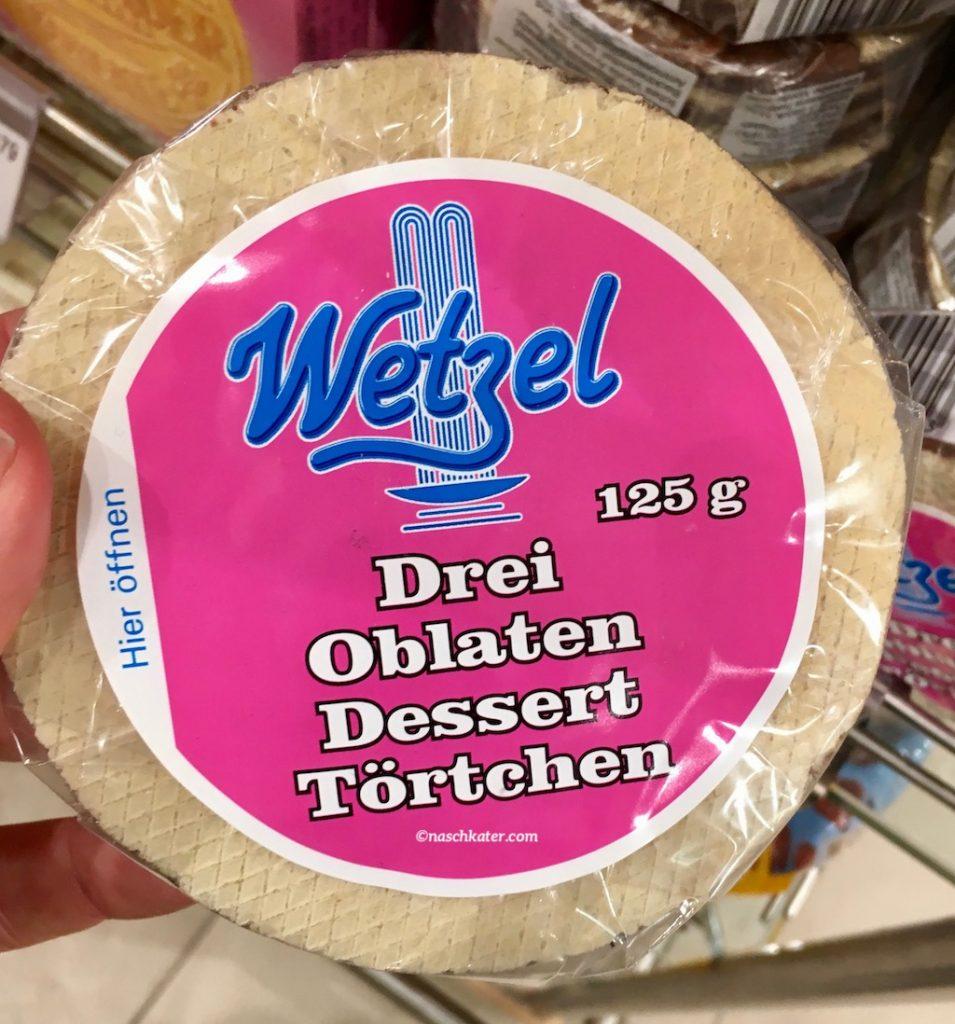 Wetzel Drei Oblaten Dessert Törtchen