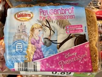 Aldi Goldähren Pausenbrot für Prinzessinnen Disney