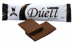Freyja Duett Lakkris med dukkuladi 35 Gramm Lakritzschokolade