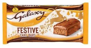 Süße Marken-Backwaren Galaxy Festive Cake Bars Orange