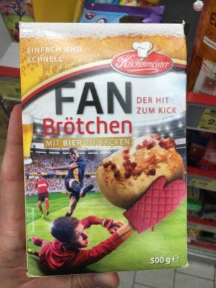 Fußball-Fanbrötchen