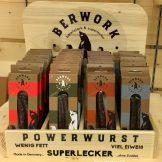 Berwork Powerwurst 4 orten Holzdisplay