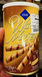 Cizmeci Times Wafers Master filled with Chocolate Cream 120g Waffelröllchen