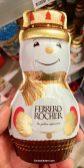 Ferrero Rocher Schneemann Hohlfigur