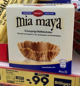 Netto mia maya Waffelschalen für Eis