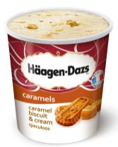 Hägen-Dazs Caramel biscuit cream icecream Pint