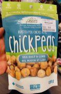 three farmers Kanada roasted chickpeas sea salt + lime 120g Snack
