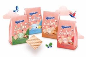 Die neuen Manner Zarties in vier Sorten: Creamy Nougat, Milky Vanilla, Salty Caramel und Strawberry Yogurt