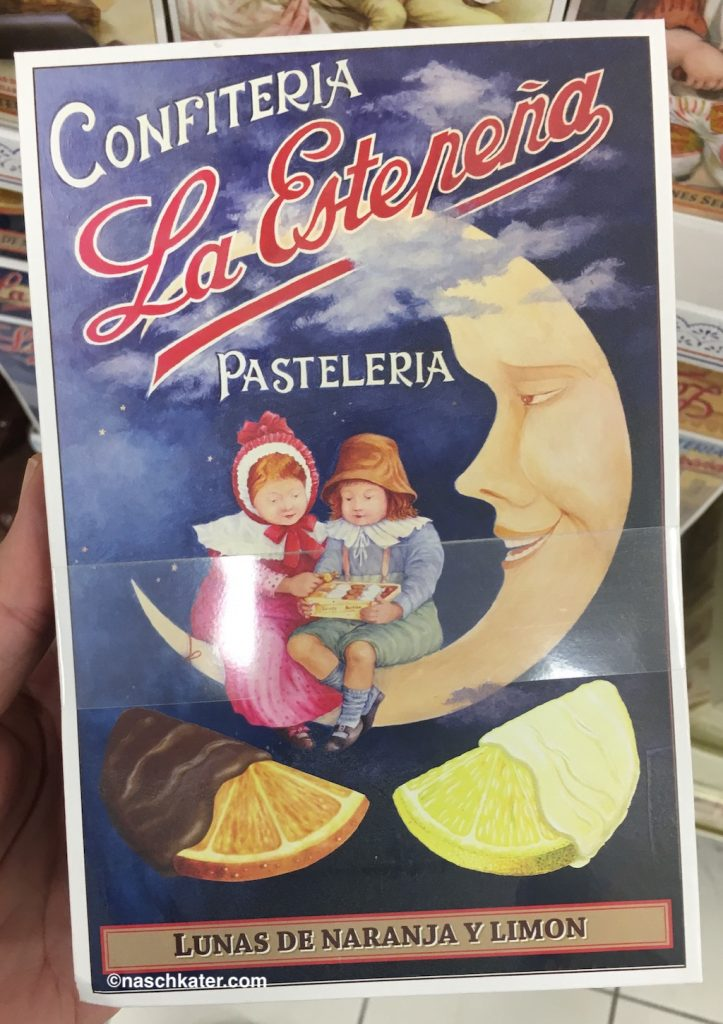 Confiteria La Estepena Pasteleria Orangenscheiben mit Schokolade überzogen