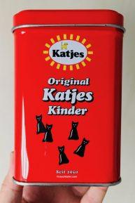 Retro-Katjes-Dose - gefunden in einem Ferienhaus auf Sylt.