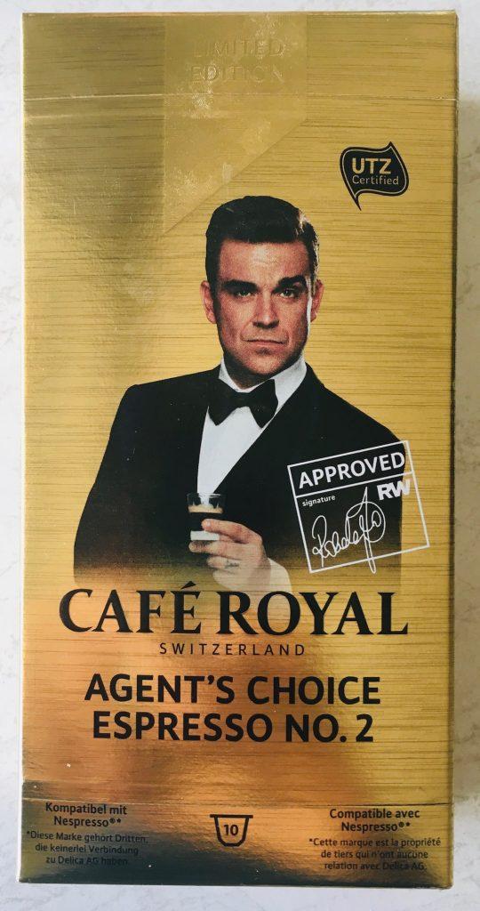 Café Royal Schweiz Kapseln Robbie Wiliams Agent's Choice Espresso No. 2