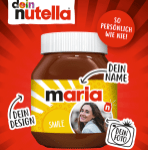 Ferrero Nutella Etikett personalisieren