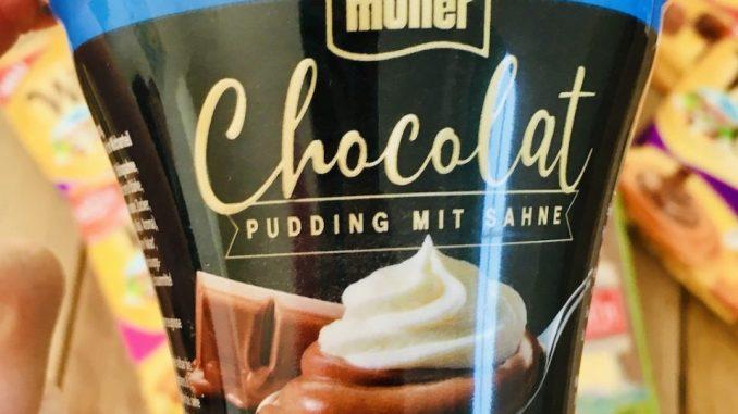Müller Chocolat Pudding mit Sahne Schoko